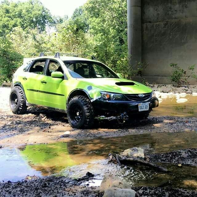 Subie STI mud edition