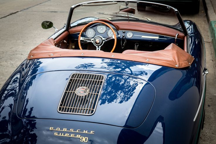 Blue Porsche 356 Convertible Super 90
