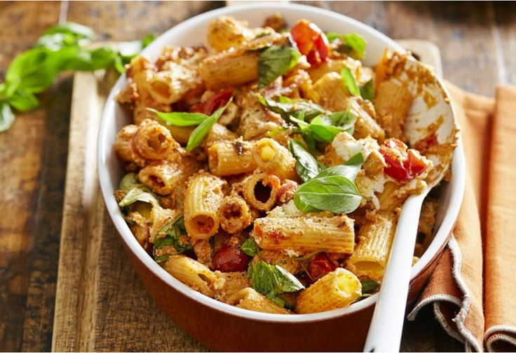 This quick and hearty pasta makes a great mid-week meal