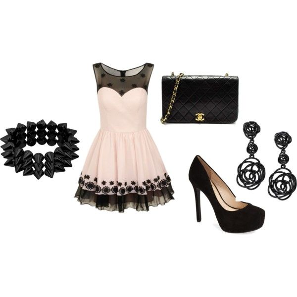 formal wear by sunn-cm on Polyvore featuring Chi Chi, Jessica Simpson, Oscar de la Renta and Chanel