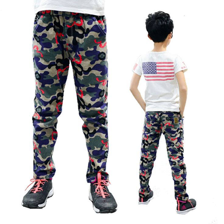 >> Click to Buy << Camouflage pants New 2016 Children Boys Casual Fashion Camouflage Pocket Pants For Spring Autumn Trousers free shipping #Affiliate