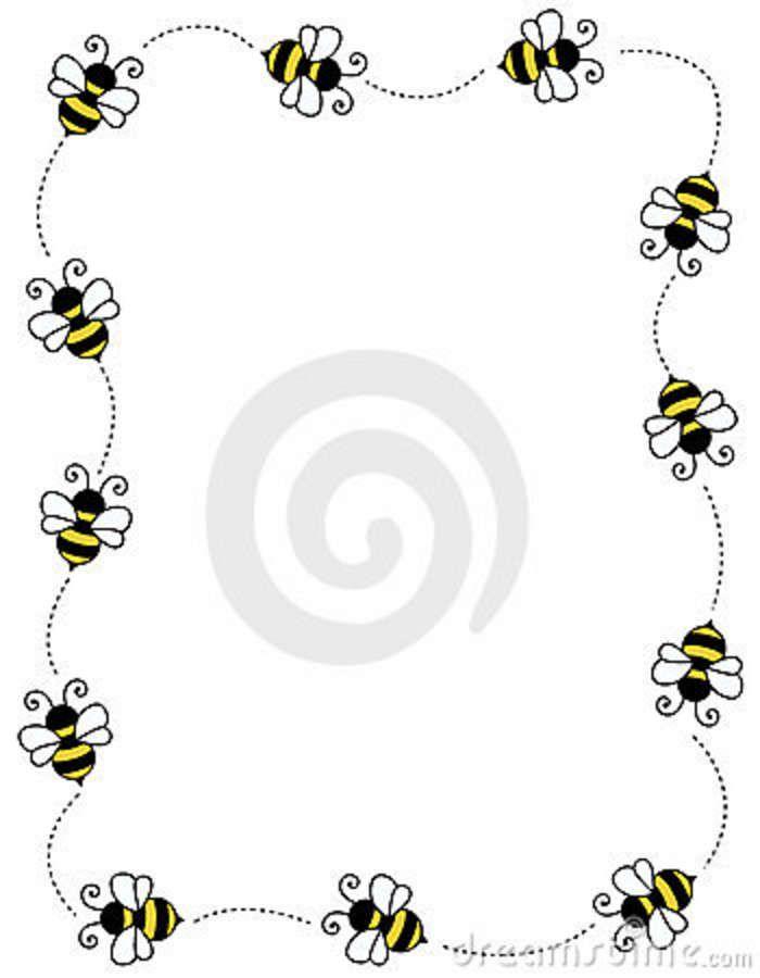 Bug Border Clip Art Free   Bee Border Frame Royalty Free Stock Image - Image: 12202246