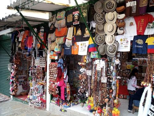 Artesanias Monserrate, Bogota. COLOMBIA.