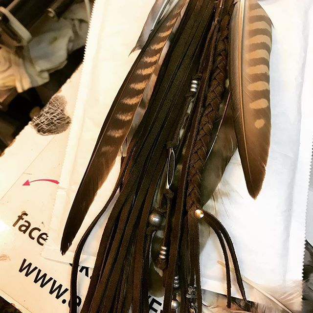 Work in progress...for Avsenik  #evileve #evilevedesign #folk #country #nativeamerican #indian #custom #music #strap #guitarstrap #leather #feathers #picoftheday #instalove