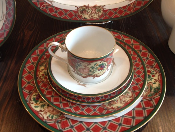Noritake Royal Hunt China for Holiday Dinners by KQMDesigns $675.00 & 47 best Holiday China Patterns images on Pinterest | Christmas china ...