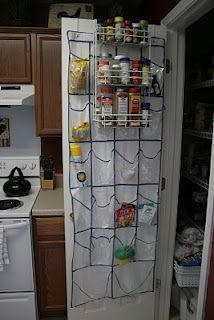 Creative space saving and organization - would be good in a laundry closet too.