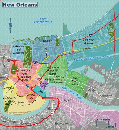 New orleans ninth ward map