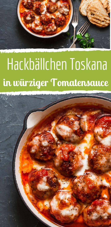 Hackbällchen Toskana mit würziger Tomatensauce