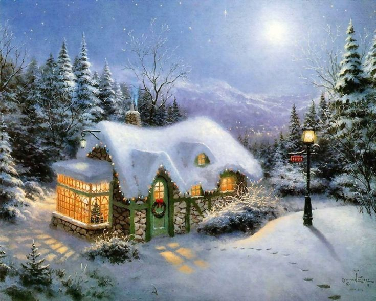 Thomas Kinkade Victorian Christmas Paintings | As seen on AMC's Hoarders: Middle Earth Edition