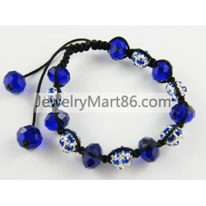 shamballa bracelet with crystal DS-0134 DS-0134  weight:320(g)  |size:D:16,(cm)