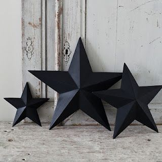 How to make: Shabby chic 3D cardboard stars - You'll need:  Empty cereal box  Paint (Any color you fancy!)  A felt tip pen in dark blue or black  Star templates  (included in instructions)  Scissors  Paintbrush