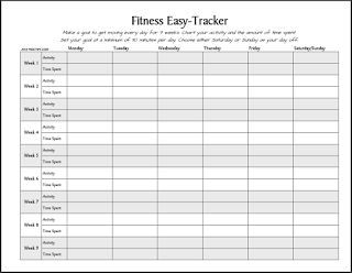 Workout Log Sheet | FREE Printable: Fitness Easy-Tracker ...