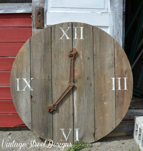 Barn Wood Clock 45 Inch Round Rustic Sign Wall by TheSignFactory, $249.00