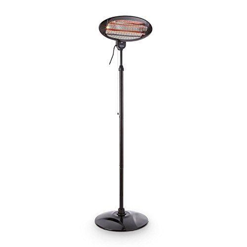DURAMAXX Shiny Hot Roddy Chauffage d'appoint (Infrarouge, radiateur pour terrasse, table à langer, parasol chauffant electrique, 1300W,…