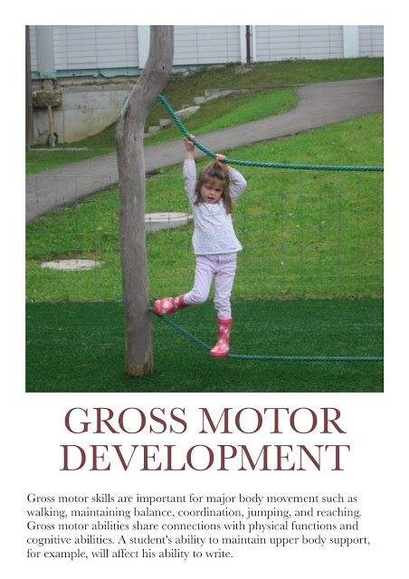 This is a great gross motor activity for preschool children through school age children. Gross motor skills are very important and help children run, jump, roll, climb, and balance in general.