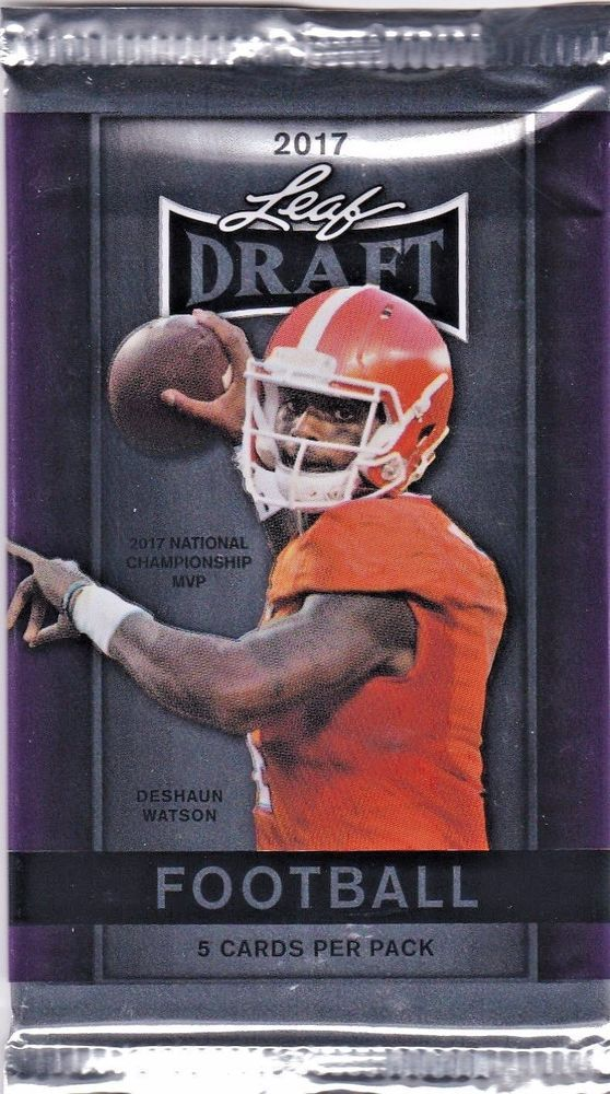 Leaf Draft 2017 NFL Draft Football Trading Card Factory Seal Pack #Various