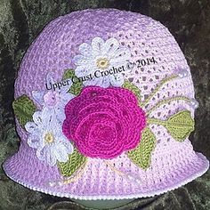 Summer Cloche and Panama Hat pattern by Upper Crust Crochet $8.99