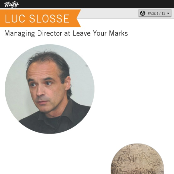 Graphical bio: Luc Slosse