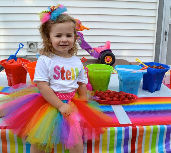 Girls Toddler Tutu Summer Fun Rainbow Set T Shirttutu Skirthandbag And Hairbow Sizes