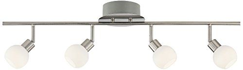 Pro Track Globe Chrome 4-Light LED Plug-In Track Fixture