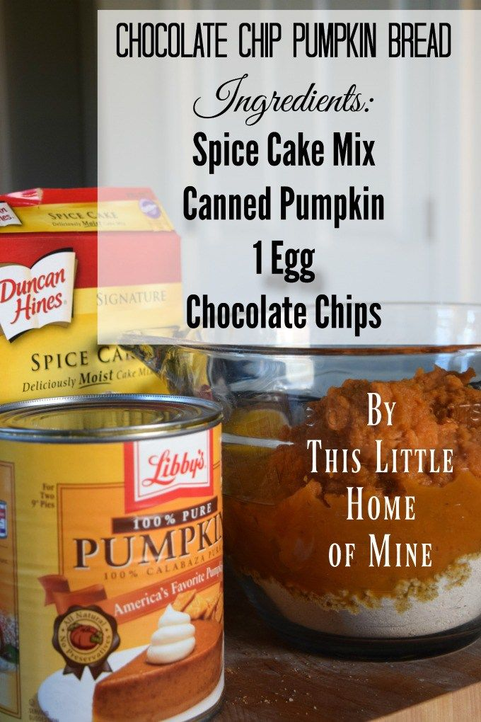 Chocolate Chip Pumpkin Bread Recipe by This Little Home of Mine