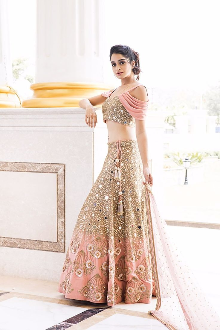Image result for cape sleeves blouse paired with lehenga BRIDESMAID