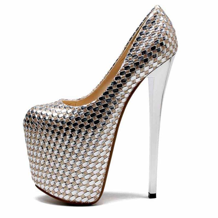 Estate Donna Pompe 2017 Nuovo 20 cm Super-Tacchi Alti Donne Scarpe Impermeabili locale notturno Sexy Scarpe Donna taglia 34-43(China (Mainland))