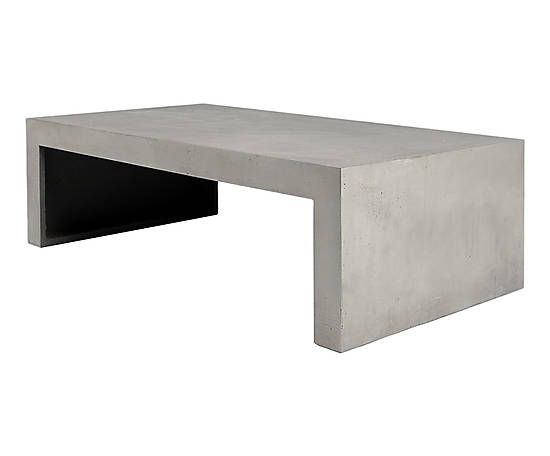 Table basse L40 béton, gris - L130