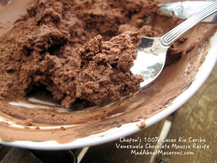 Pure 100% Cacao Chocolate Mousse Recipe by Patrice Chapon  - post by Mad About Macarons!