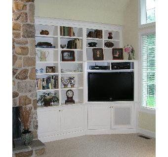 custom made builtin corner tv cabinet