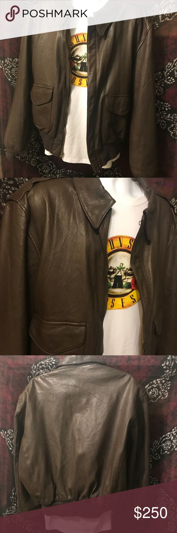 US Air Force Bomber Jacket! From M&L! Complete authentic US Air Force Bomber Jacket, from a vintage shop On the hottest streets of LA!! Great for any motorcycle rider,  very durable leather jacket! Super warm!!!! Jackets & Coats Bomber & Varsity