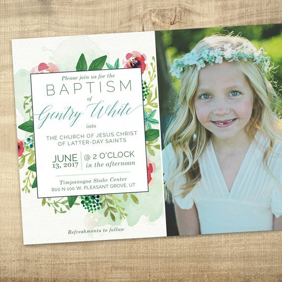 28 best Baptism Invitations and announcements images on Pinterest