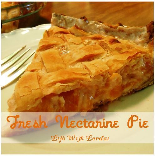 Fresh Nectarine Pie With Lattice Top Pie Crust