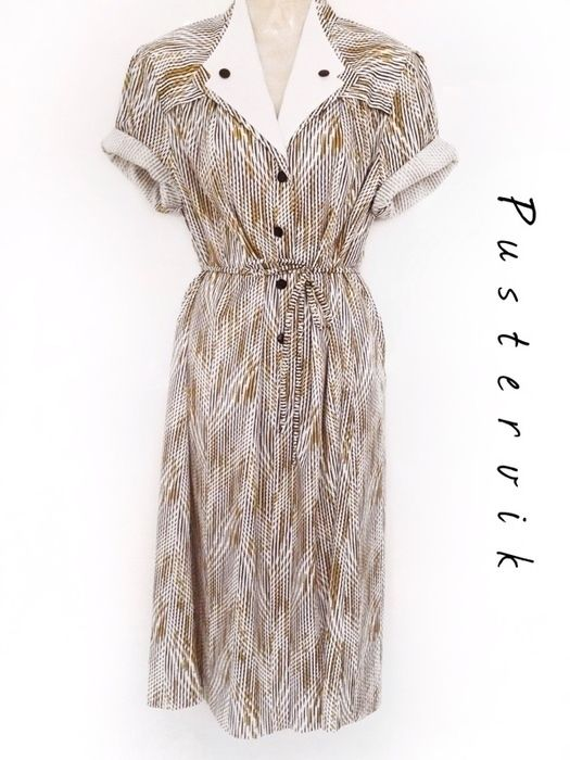 "You're a #VINTAGE fan? Want to find more #Vintage #Fashion #Outfits? Visit ""pustervik"" on #Kleiderkreisel! True Vintage Fashion Statement Dress Kleid mit Muster und Kragen Original 70er Jahre - kleiderkreisel.de"