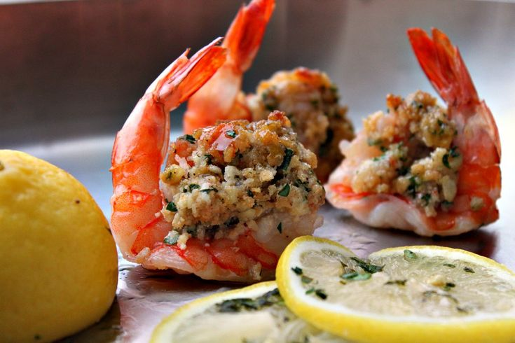 Scampi Stuffed and Roasted Shrimp: Dinner, Shrimp Favorite Recipes, Seafood Recipes, Roasted Shrimp, Stuffed Shrimp, Shrimp Recipe, Scampi Stuffed, Healthy, Yummy