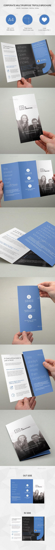 Corporate Multipurpose Trifold Brochure Template #print #design Download: http://graphicriver.net/item/corporate-multipurpose-trifold-brochure-10/11996549?ref=ksioks
