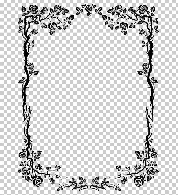 Flower Rose Png Background Black Black And White Border Frame Certificate Border Free Clip Art Clip Art Royalty Free