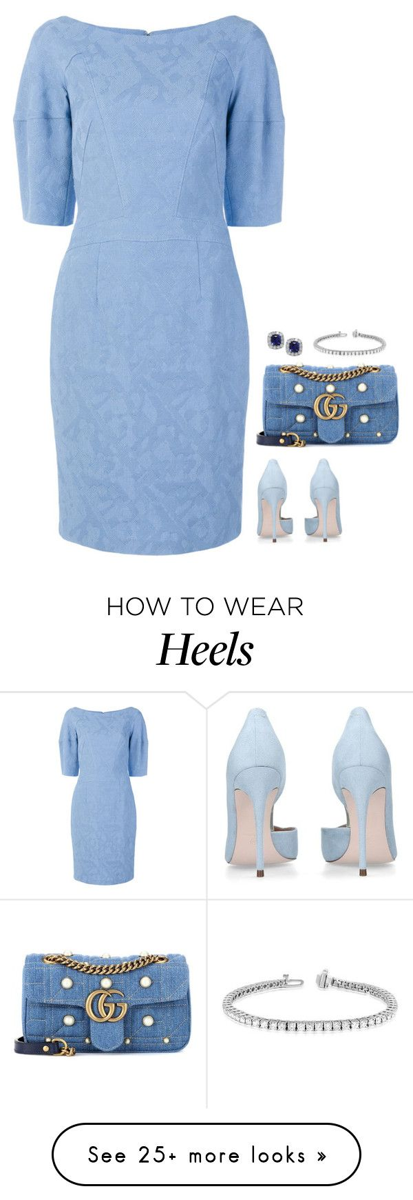 """""""#7264"""" by azaliyan on Polyvore featuring Talbot Runhof and Gucci"""