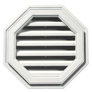 Builders Edge 18 in. Octagon Gable Vent #123 White-120011818123 at The Home Depot ... I don't know if I would actually put this up, but installing it faux (not really punching a hole through the house) would help the house's receding hairline look.