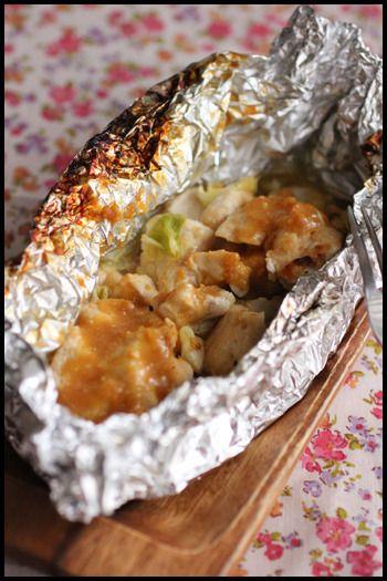 魚焼きグリルで簡単!鶏むね肉のガーリック味噌ホイル焼き by 山本 ...