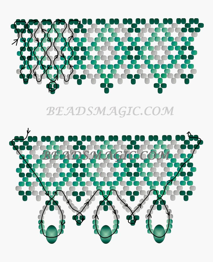 Free pattern for beaded necklace Emily | Beads Magic | Bloglovin'