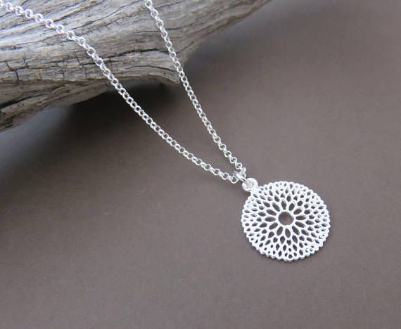 Sterling Silver Filigree Floral Necklace  MarciaHDesigns | Handmade Jewelry