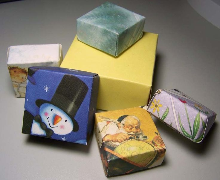 origami card boxes