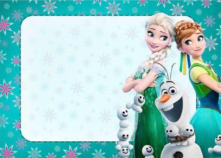 Resultado de imagen para invitaciones de frozen una aventura congelada