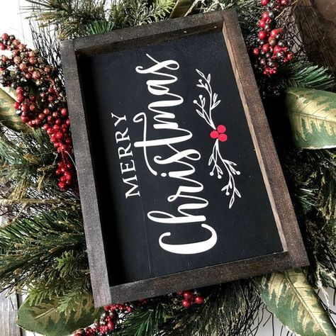 Frohe Weihnachten Black Farmhouse Style Wooden Sign | Etsy   – Holiday decor