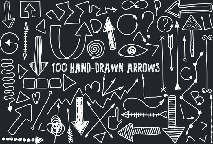 100 Hand-drawn Arrows