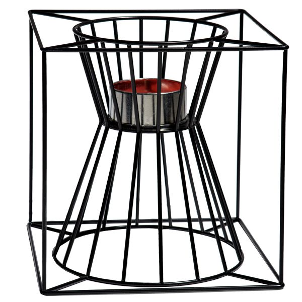 Boo fire basket, black, by Skargaarden.