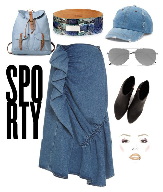 """""""SPORTY!"""" by brigid-zapata on Polyvore featuring J.W. Anderson, W.Kleinberg, Mudd, Yves Saint Laurent and Alexander Wang"""