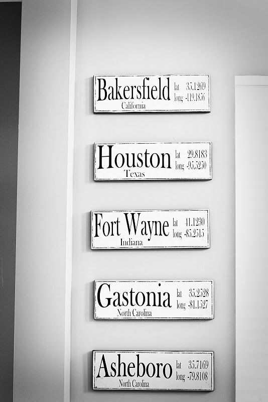 Places we've lived.  Love this idea.