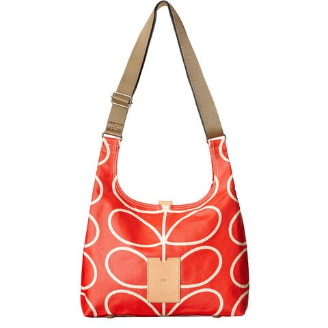 Orla Kiely Giant Linear Stem Midi Sling Bag - Vermillion
